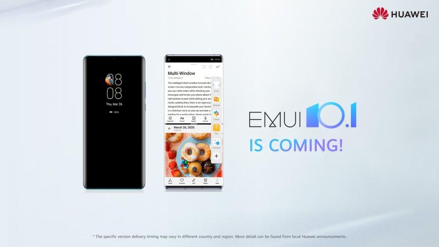 Huawei lanza la actualización EMUI 10.1 para susdispositivos
